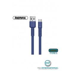 Câble Remax Armor RC-116a USB Type C (2.4A) Bleu 1m