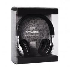 Casque Audio Avec Micro Extra Bass Noir