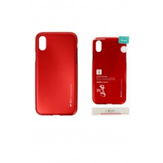 Coque silicone Iphone XR Rouge I-Jelly metal Case
