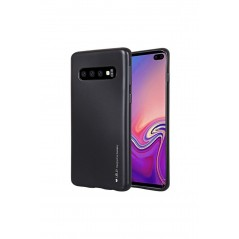 Coque silicone Samsung S10+ Noir I-Jelly metal Case