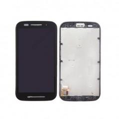 Ecran LCD pour Motorola Moto E avec châssis Noir