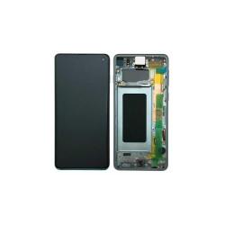 Ecran Samsung S10 / SM-973F Bleu Service Pack