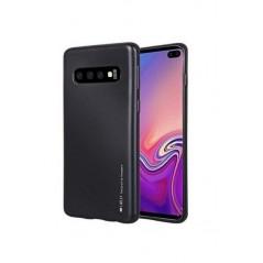 Coque silicone Samsung S10 Noir I-Jelly Metal Case