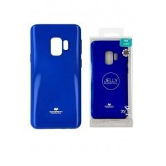Coque Silicone Samsung S9+ Bleu Goospery Jelly
