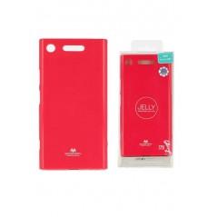 Coque Silicone Sony XZ1 HotPink Goospery Jelly