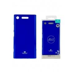 Coque silicone Sony XZ1 Bleu Goospery Jelly