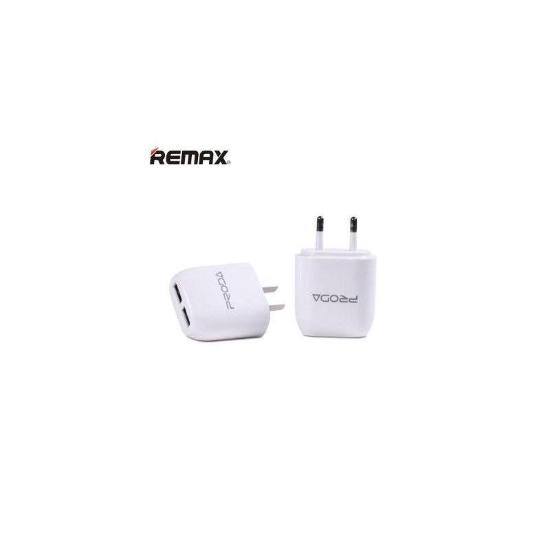 Adaptateur secteur double USB Remax