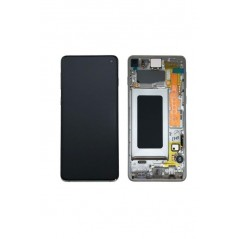 Ecran Samsung S10 / SM-973F Prisme Blanc Service Pack