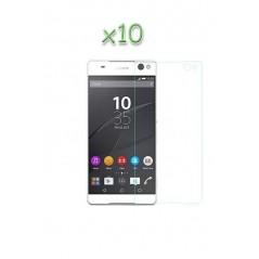 Lot 10 verres protection trempé Sony XA