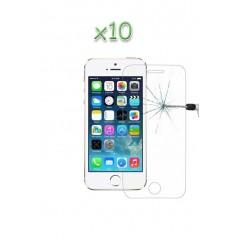 Lot 10 Verres Trempés iPhone 5/5C/5S