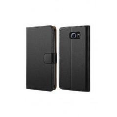 Housse Portefeuille Samsung Galaxy S6 Cuir Véritable Premium