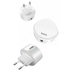 Adaptateur Secteur Hoco Shell C68A QC3.0 1xUSB en Blanc