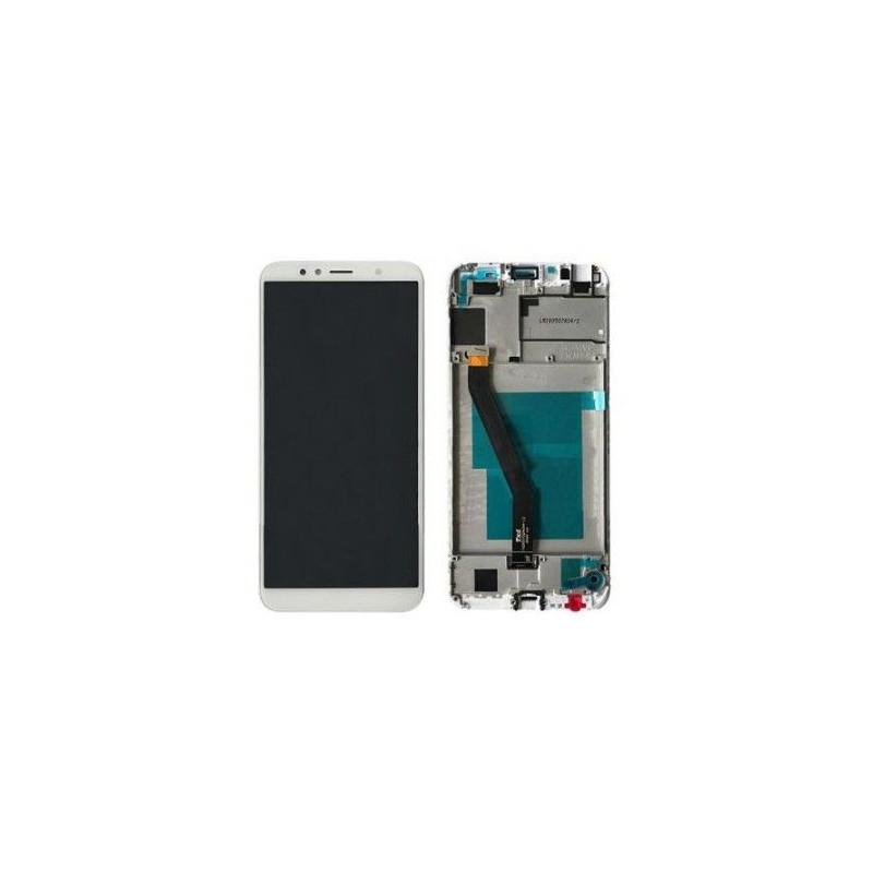 Écran Huawei Y6 2018 Blanc Avec Châssis (Reconditionné)