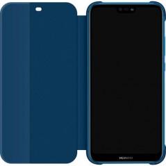Coque Smart View Flip Cover Huawei P20 Lite Bleu