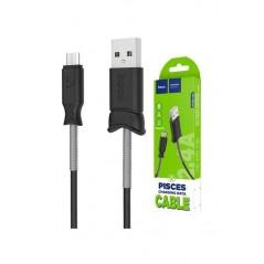 Cable Hoco X24 Pisces 1.2m USB Type C Noir