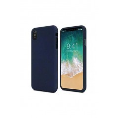 Coque silicone iphone xs max bleu soft feeling