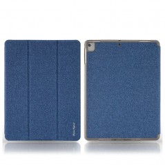 Étui Remax Leather Case iPad Mini 4 / 5 Avec Porte-Crayon Bleu