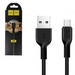 Câble HOCO X20 Micro USB Noir de 3 mètres