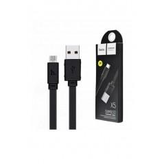 Câble HOCO X5 Bamboo Micro Usb Noir de 1 mètre