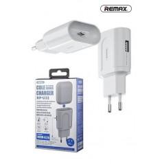Adaptateur Secteur Remax Lightning pour Aipods RP- U32 Blanc