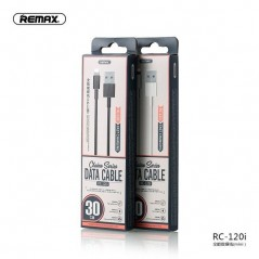 Câble Remax RC-120I Lightning 2.1A Noir 30 cm
