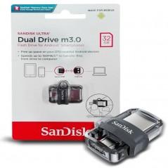 Clé USB SanDisk Ultra Dual Drive M3.0 32Gb- Micro USB / USB