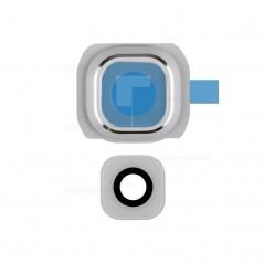 Lentille de Caméra Arrière pour Samsung S6 edge + Blanc