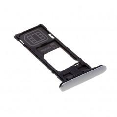 Tiroir Sim Argent pour Sony Xperia X