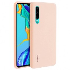 Coque Officielle Silicone Rose Huawei P30