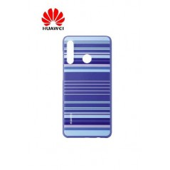Coque Officielle PU Case pour Huawei P30 Lite Striped Bleu