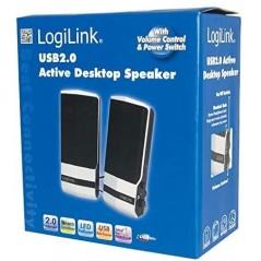 Haut-parleurs USB 2.0 Argent LogiLink Active