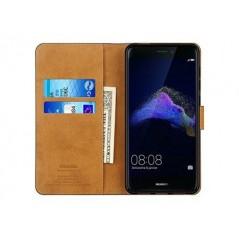 Housse portefeuille en cuir véritable Premium pour Huawei P8 Lite