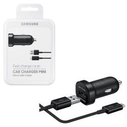 Chargeur de voiture à charge rapide Micro USB Noir Samsung