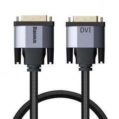 Câble Bi-directionnel Baseus DVI Male vers DVI Mâle 2m Gris