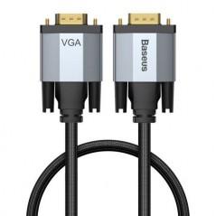 Câble Baseus Vidéo VGA vers VGA 1080p pour projecteur TV 1m Gris