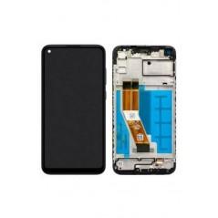 Écran Samsung A11 Noir Avec Châssis Service Pack