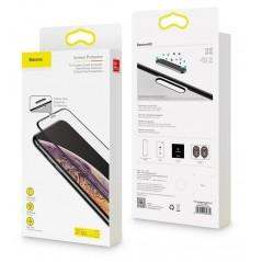Verre Trempé Baseus 0.3mm Full Anti-Lumière Bleu iPhone XR / 11 Noir (SGAPIPH61-WB01)