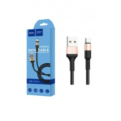 Cable Rechargement Hoco X26 Micro USB Noir Or 1m