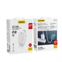 Chargeur secteur à charge rapide Blanc - UE USB / USB Type C - Dudao - 22,5W