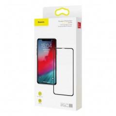Verre Trempé Baseus Anti-Lumière Bleue 0.3mm Full iPhone X Noir (SGAPIPHX-KD01)