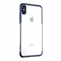 Coque Bleue et Transparente Baseus Shining pour iPhone XS Max (ARAPIPH65-MD03)