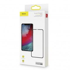 Verres Trempés x2 Baseus 0.3mm Anti-Lumière Bleue Full iPhone 11 Pro Max Noir (SGAPIPH65S-KD01)