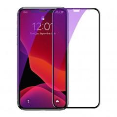 Verre Trempé Baseus 0.23mm Anti-Lumière Bleue Full iPhone XS Max Noir (SGAPIPH65-ATE01)