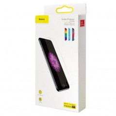 Verres Trempés x2 Baseus 0.3mm Anti-Lumière Bleue Full iPhone SE 2020 / 8 / 7 Transparent (SGAPIPHSE-LB02)