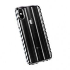 Coque Transparente Noire Baseus Aurora iPhone XS Max (WIAPIPH65-JG01 / WIAPIPH65-JG04)