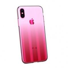 Coque Transparente Rose Baseus Aurora pour iPhone XS Max (WIAPIPH65-JG01 / WIAPIPH65-JG04)