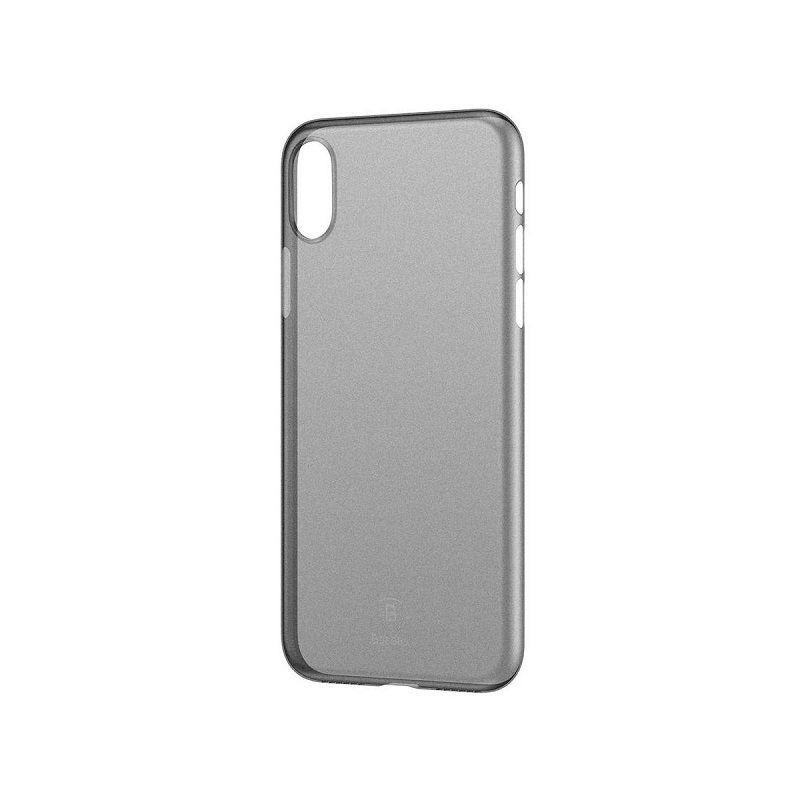 Coque Transparente Noire Baseus Wing iPhone X (WIAPIPHX-01)