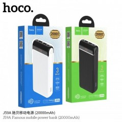 Power Bank Noir Hoco J59A Famous 20 000mAh LED
