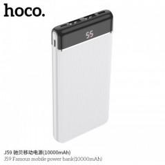 Power Bank Blanc Hoco J59 Famous 10 000mAh LED