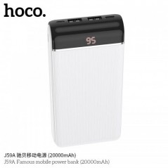 Power Bank Blanc Hoco J59A Famous 20 000mAh LED